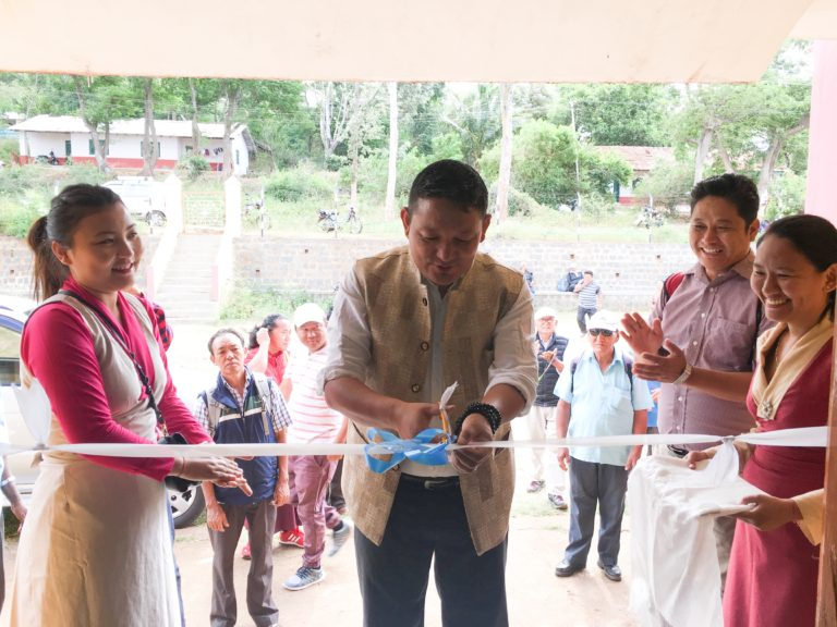 Settlement Officer Thupten Tsering, Dhondenling Tibetan Settlement, Kollegal inaugurating Tibet Museum's exhibition on 'Biography of His Holiness the Dalai Lama's and 'Why are Tibetans turning to Self-immolation in Tibet?', 13 July 2017.