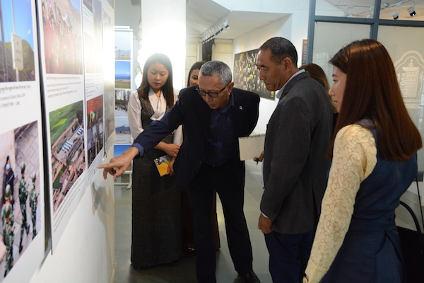 The curators and content developers of the new Tibet Museum at a tour of the current Tibet Museum in McLeod Ganj. Photo/Tenzin Jigme/DIIR