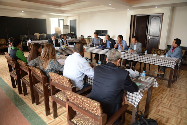 Curators and content developers of the new Tibet Museum at the two-day meeting. Photo/Tenzin Jigme/DIIR