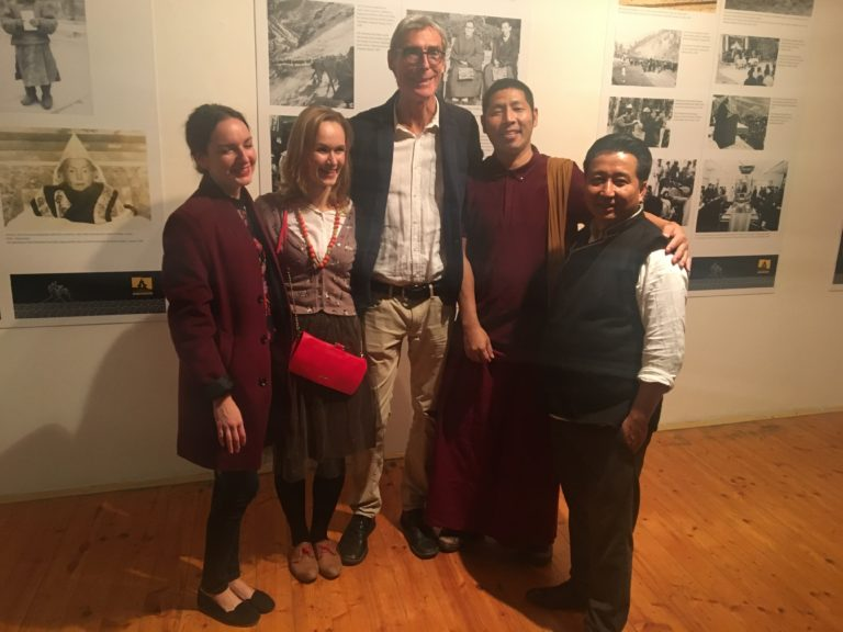 Director Tashi Phuntsok of Tibet Museum with founders of tibet open house – Alexandra Macurová (2nd left), Jan Mayer (3rd from left) Geshe Yeshi Gawa (2nd from right).