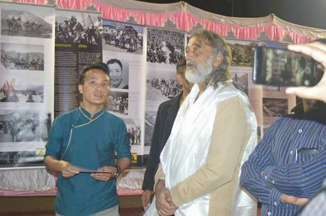 "The photo exhibition entitled ""A Long Look Homeward"" and ""India and Tibet – Ancient Ties, Current Bonds"" held on 10 December 2017. Photo/Tibet Museum/DIIR"