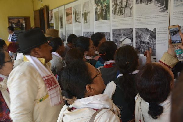 Visitors at The Tibet Museum's exhibition in Tezpur, Assam.