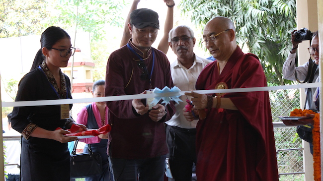 Tibet's Museum's exhibition inaugurated by Ven Ngawang Samten, Vice-Chancellor of Central University for Tibetan studies. Photo/Tashi Dhondup/BHU.