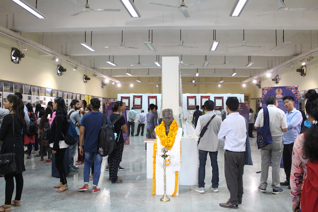 Visitors at the Tibet Museum exhibition. Photo/Tashi Dhondup/BHU.