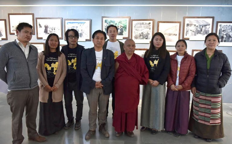 Members of Tibet Museum, DIIR with Deputy Speaker of Tibetan Parliament-in-Exile, Acharya Yeshi Phuntsok and Director of Tibet Museum, Tashi Phuntsok. Photo/Tenzin Phende