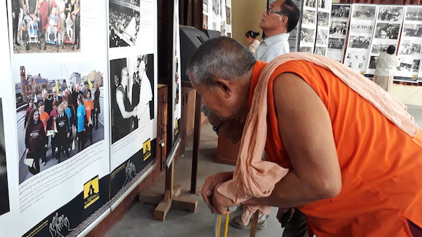 Tibet Museum's exhibition at Paonta Cholsum Tibetan settlement.